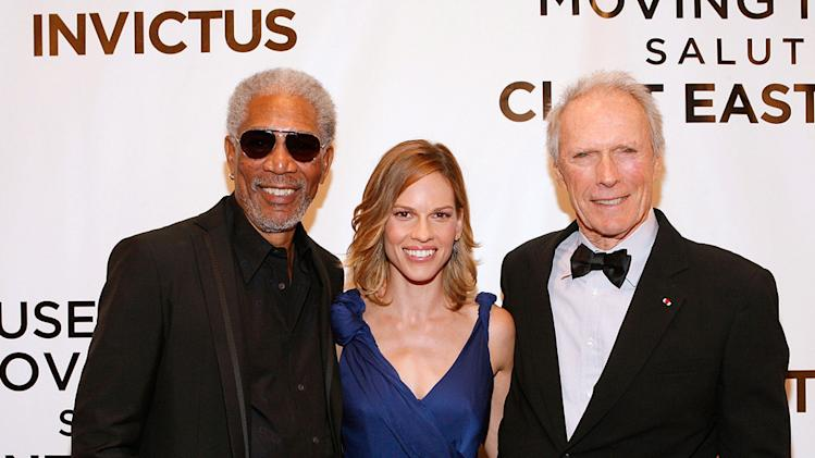 Museum of The Moving Image salute to Clint Eastwood 2009 Morgan Freeman Hilary Swank Clint Eastwood