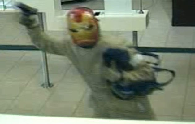 The Iron Man bank robber