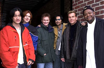 Tony Bui, Alison Semenza, Andrew Stevens, Timothy Linh Bui, Patrick Swayze and Forest Whitaker of Green Dragon Sundance Film Festival Day 3 Park City, Utah 1/20/2001
