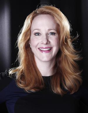 """FILE - In this Tues., March 6, 2012 file photo, actress Katie Finneran poses for a portrait in New York. The two-time Tony Award® winning actress (""""Promises, Promises,"""" """"Noises Off"""") will star as Miss Hannigan in the new production of ANNIE, the Tony Award-winning classic musical.  ANNIE opens November 8, 2012, at the Palace Theatre in New York. (AP Photo/Carlo Allegri, File)"""