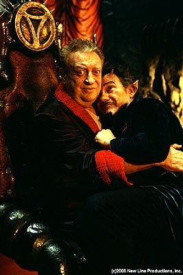 Rodney Dangerfield and Harvey Keitel in New Line's Little Nicky