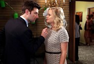 Adam Scott and Amy Poehler | Photo Credits: Tyler Golden/NBC