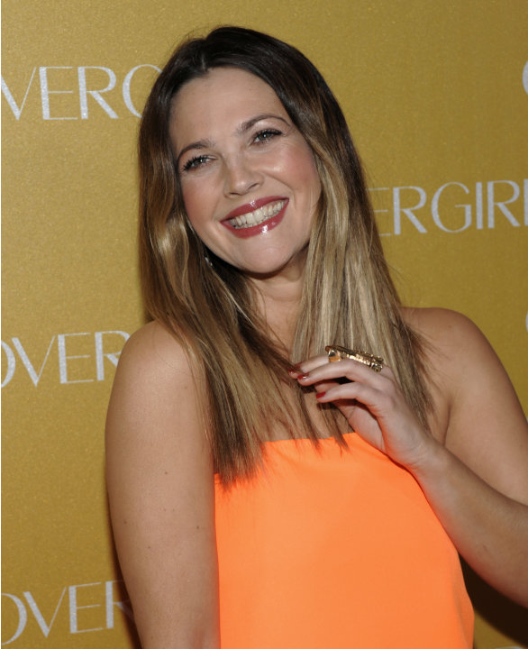 Actress Drew Barrymore arrives at the COVERGIRL Cosmetics' 50th Anniversary Party in Los Angeles on Wednesday, Jan. 5, 2011. (AP Photo/Dan Steinberg)