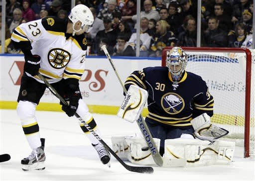 Roy scores to seal Sabres 2-1 SO win over Bruins
