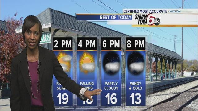 Monday's Forecast: Cold snap hits central Indiana
