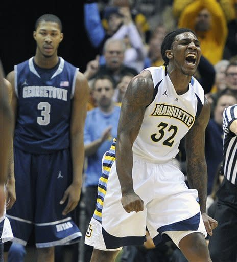 No. 8 Marquette beats No. 11 Georgetown 83-69