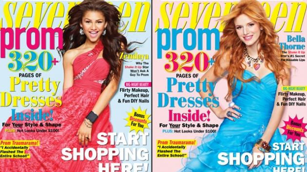 Zendaya and Bella on the covers of Seventeen Prom -- Seventeen