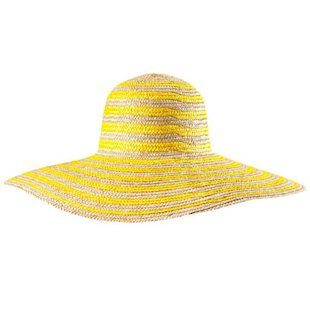 Neon Yellow Straw Hat H&amp;M: Beach