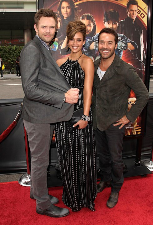 Spy Kids All The Time in the World LA premiere 2011 Joel McHale Jessica ALba Jeremy Piven