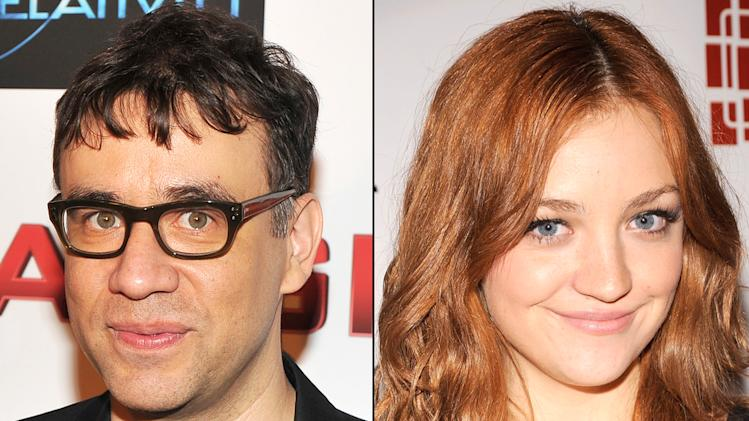 Fred Armisen and Abby Elliott