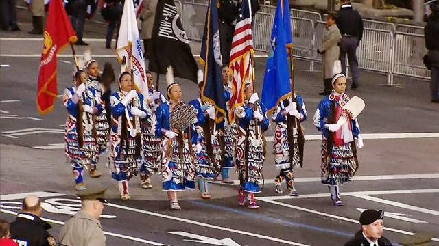 Native Americans make history in the inaugural parade