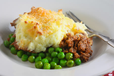 Shepherd's Pie with Peas