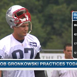 All eyes on New England Patriots tight end Rob Gronkowski