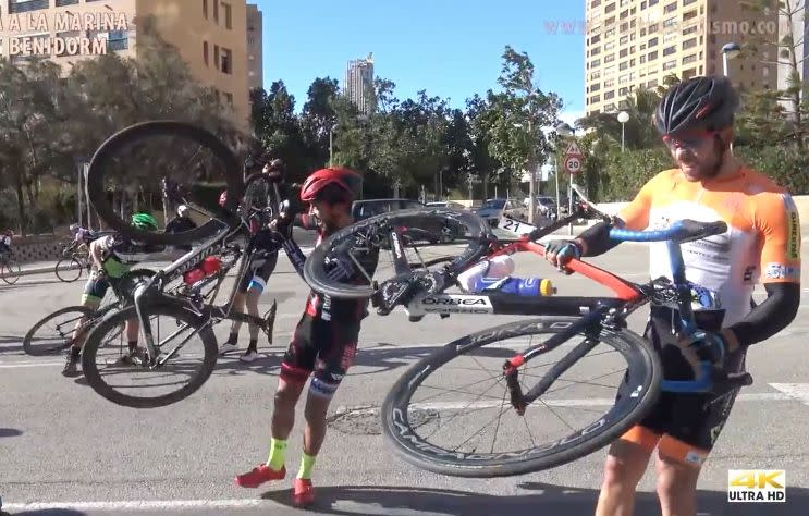 Hurricane-force winds stop cyclists in their tracks; race is suspended