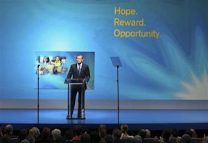 Australia's conservative opposition leader Abbott speaks to launch his party's election campaign in Brisbane