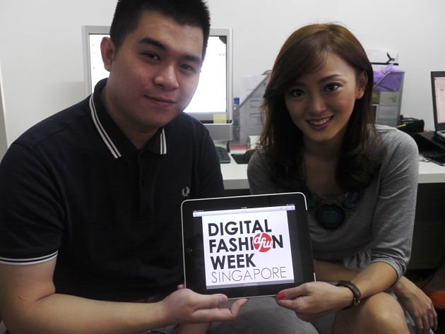 Keyis Ng (left) with his co-founder of Digital Fashion Week, Charina Widjaja. (Yahoo! photo)