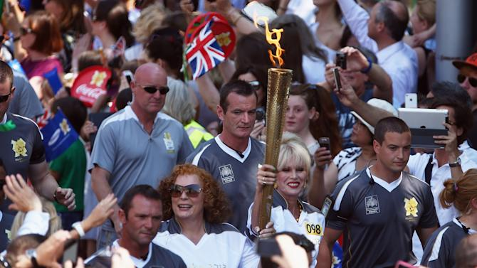 After 68 Days Travelling Around The UK The Olympic Torch Reaches Central London Ahead Of The Opening Ceremony