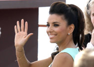 FILE - In this June 13, 2012 file photo, actress Eva Longoria waves to the fans during the 2012 Monte Carlo Television Festival in Monaco. Longoria will speak at the Democratic Convention. (AP Photo/Lionel Cironneau)