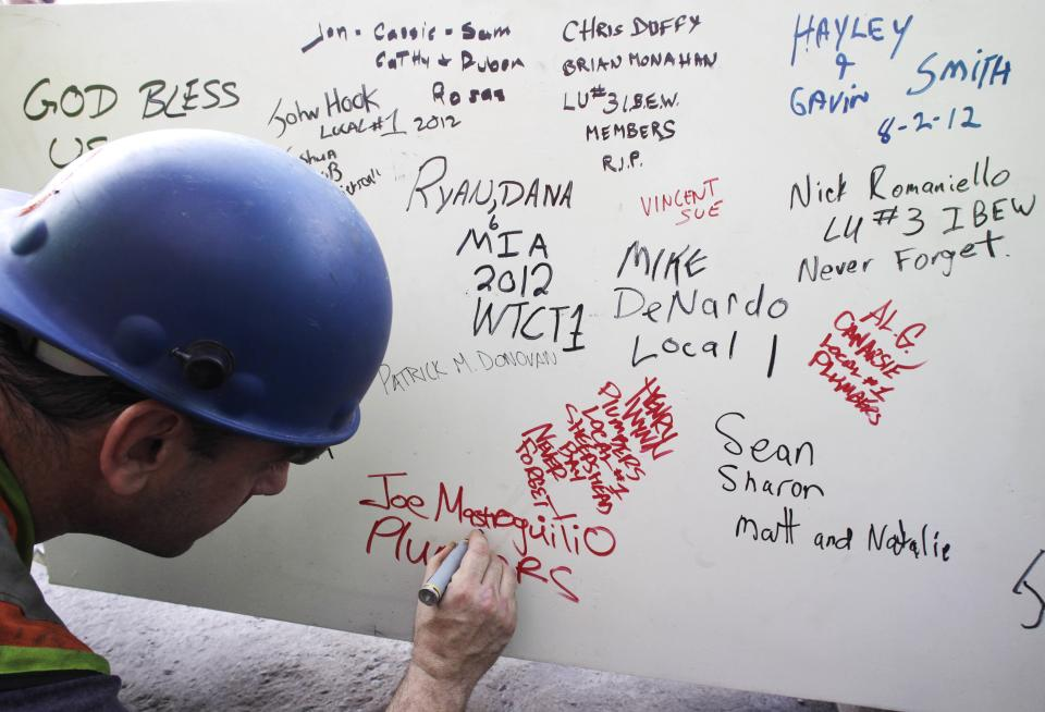 WTC workers scrawl graffiti of defiance, hope