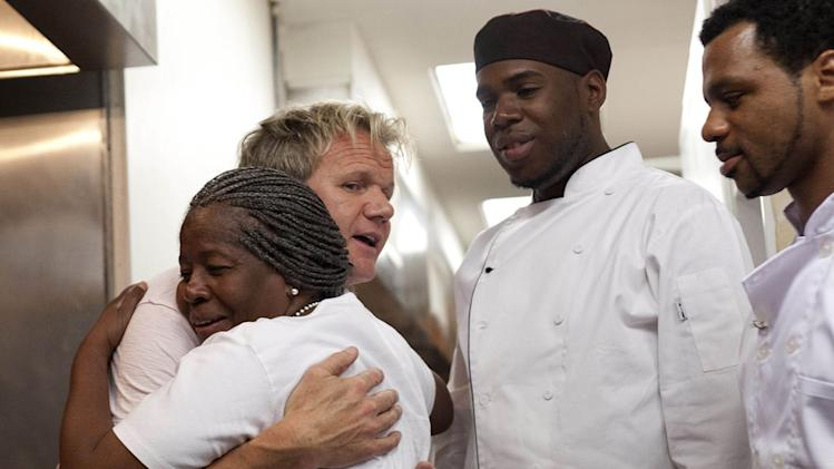 "Chef Gordon Ramsay travels to Plainfield, NJ, to help the struggling Blackberry's restaurant in the Season Four premiere of ""Kitchen Nightmares."""