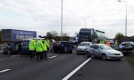 M1 Crash: Seven Hurt And Lorry Driver Arrested