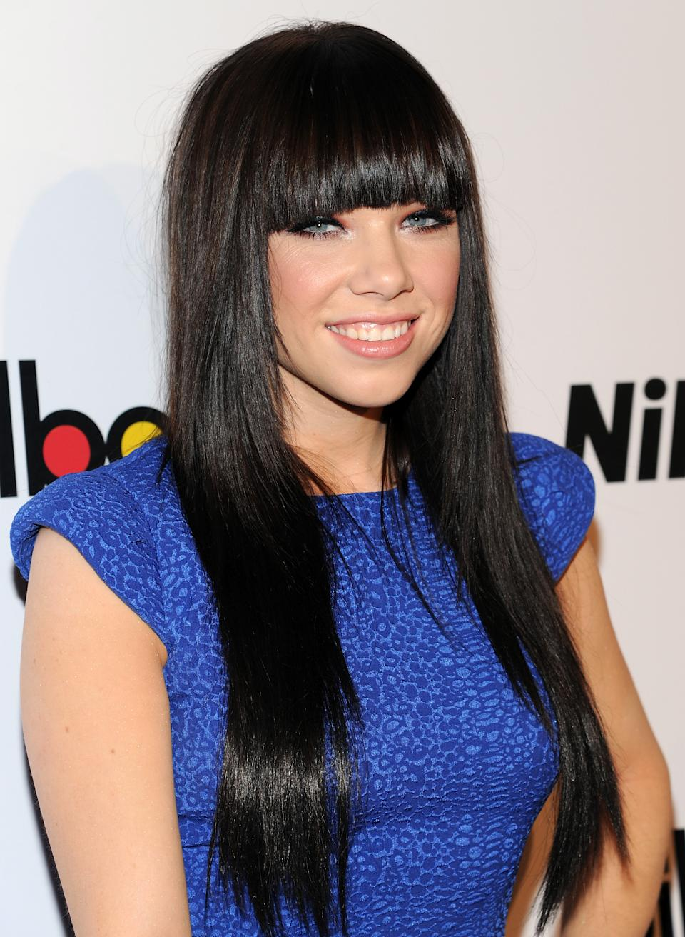 """Rising Star"" honoree, singer Carly Rae Jepsen attends Billboard's ""Women in Music 2012"" luncheon at Capitale on Friday Nov. 30, 2012 in New York. (Photo by Evan Agostini/Invision/AP)"