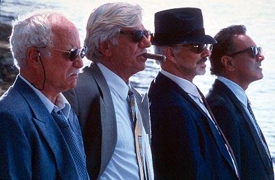 "Bobby Bartellemeo ( Richard Dreyfuss ), Tony ""The Mouth"" Donato ( Seymour Cassel ), Joey ""Bats"" Pistella ( Burt Reynolds ) and Mike ""The Brick"" Donatelli ( Dan Hedaya ) in Touchstone's The Crew"