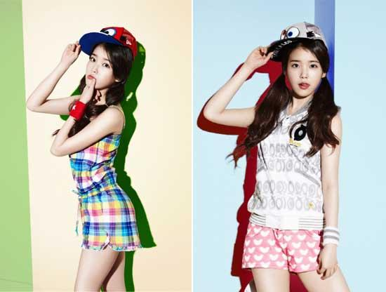 IU Wear Flip Flops as Bunny Ears for Le Coq Sportif