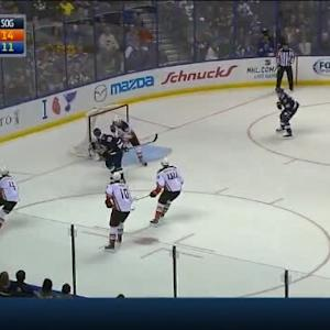 John Gibson Save on Jay Bouwmeester (08:27/2nd)
