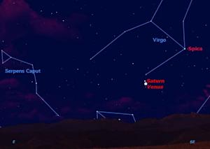 Saturn Meets Venus in Dawn Sky This Week
