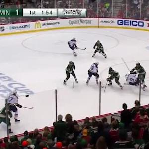 Ryan Suter Hit on Chris Porter (18:13/1st)