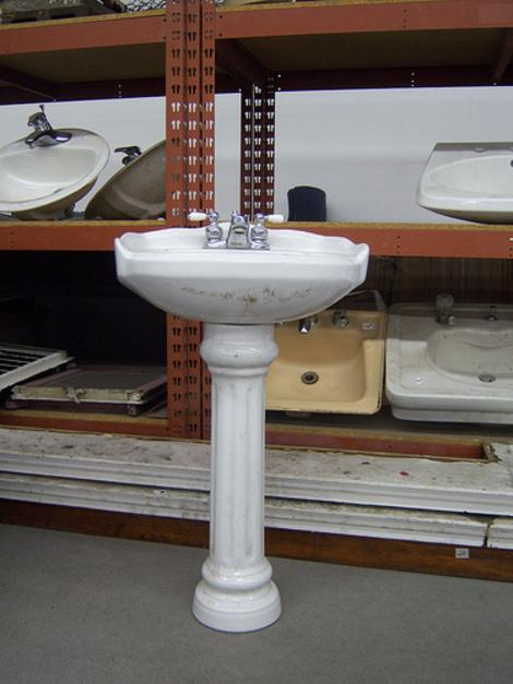 DIY cabinet sink to pedestal sink