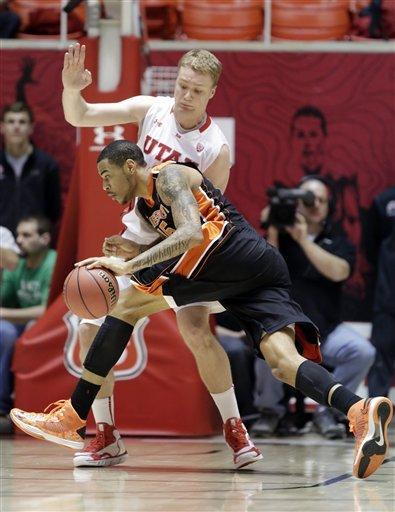 Utah drops Oregon State 72-61