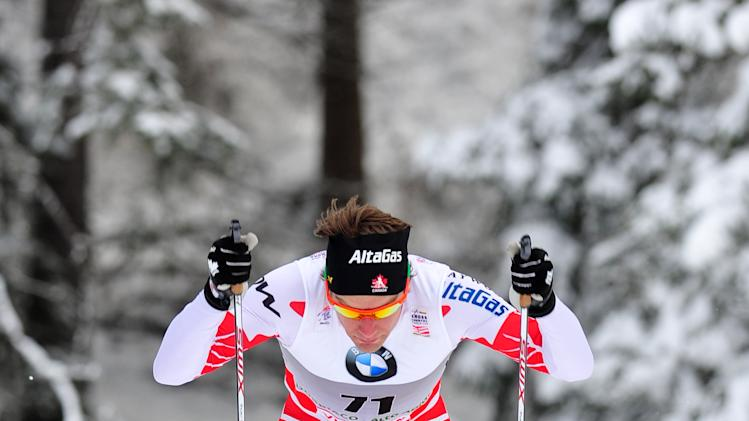 Canadian Devon Kershaw competes in the men's Tour de Ski 5 km classic individual in Toblach on January 3, 2011.  AFP PHOTO / GIUSEPPE CACACE (Photo credit should read GIUSEPPE CACACE/AFP/Getty Images)