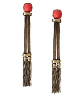 Asos tassel earrings, $27.58, at Asos