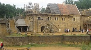 The Chateau de Guedelon, as seen on BBC News