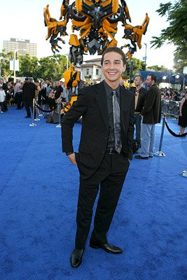 Shia LaBeouf at the Los Angeles premiere of DreamWorks/Paramount Pictures' Transformers