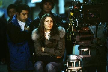 Director Sofia Coppola on the set of Focus' Lost in Translation