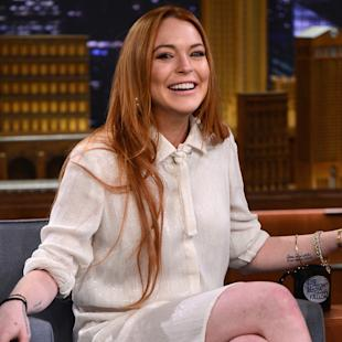 "Lindsay Lohan Visits ""The Tonight Show Starring Jimmy Fallon"""