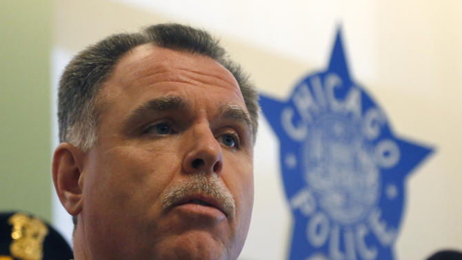 Chicago Police Superintendent Garry McCarthy talks about the department's efforts to curb gun violence during a news conference Monday, Feb. 4, 2013, in Chicago. Police say they are receiving many tips as they investigate last week's shooting death of a 15-year-old Hadiya Pendleton. But there is also a concern that people with valuable information may not be coming forward and others wonder if people are staying silent out of concern that talking might put their own lives in danger. (AP Photo/Charles Rex Arbogast)