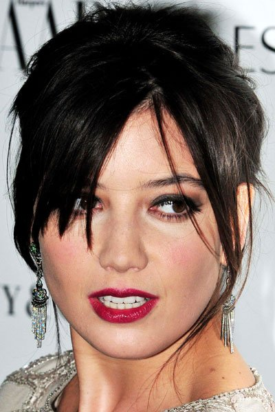 Daisy Lowe Works A Killer Berry Red Lip