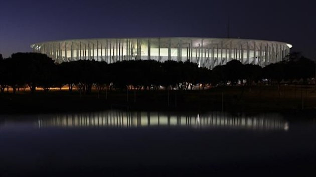 A general view of the National Mane Garrincha Stadium is seen in Brasilia June 13, 2013 (Reuters)