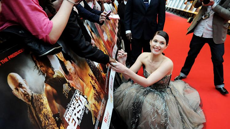 Prince of Persia The Sands of Time UK Premiere 2010 Gemma Arterton