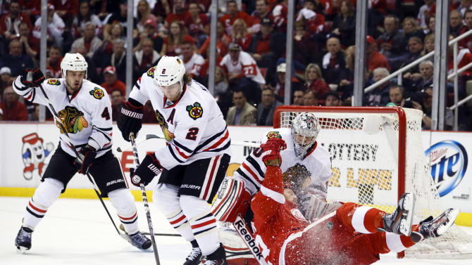 NHL: Stanley Cup Playoffs-Chicago Blackhawks at Detroit Red Wings