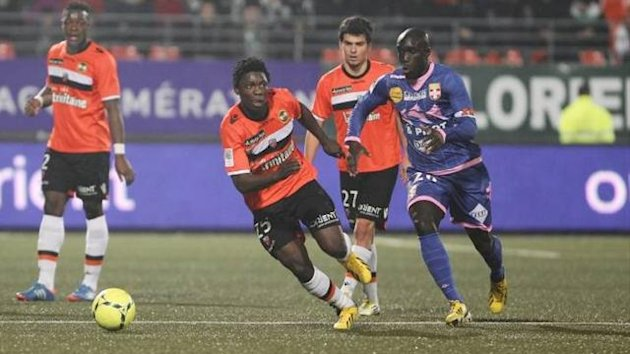 Yannick Sagbo in action against Lorient (Imago)