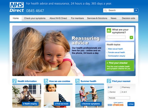 WEBSITE OF THE DAY: NHS Direct. WebsiteOfTheDay, Websites, Software, Online 0