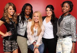 Angie Miller, Candice Glover, Janelle Arthur, Kree Harrison and Amber Holcomb | Photo Credits: Ray Mickshaw/FOX