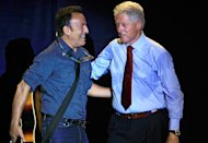 Bruce Springsteen and Bill Clinton Rally for Obama