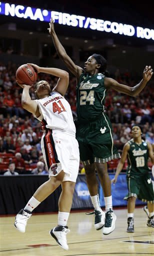 No. 10 seed South Florida edges Texas Tech 71-70