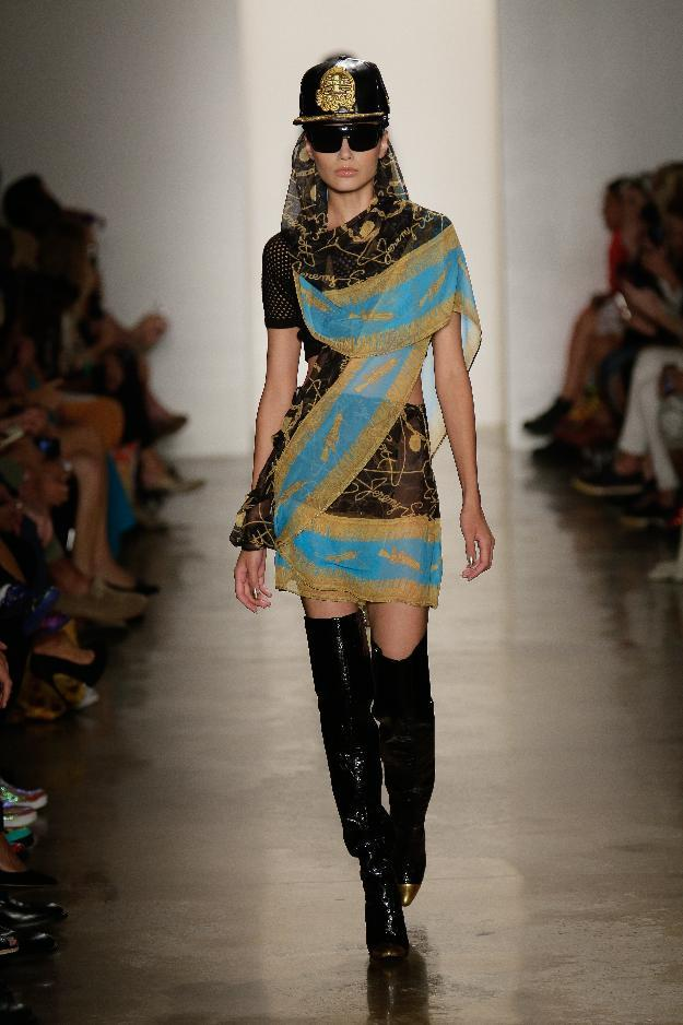 In this photo provided by Jeremy Scott, the Jeremy Scott Spring 2013 collection is modeled during Fashion Week in New York, Wednesday, Sept. 12, 2012. (AP Photo/Jeremy Scott)